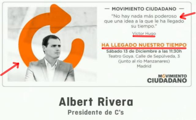 Movimento Ciudadanos - Frase de Victor Hugo y Slogan del Movimiento